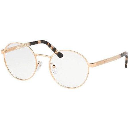 Óculos Prada metal redondo PR52xv svf 1o151 dourado