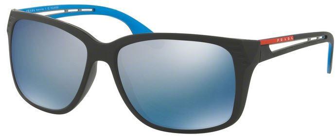 Óculos Prada solar sps 03t 1bo2e0 lente espelhada azul
