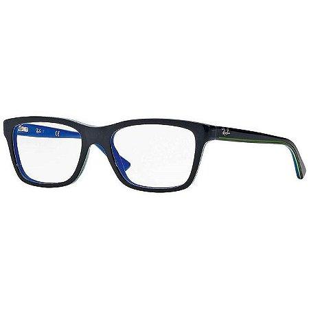 Óculos Infantil Ray Ban JR RB 1536 3800 Preto e azul