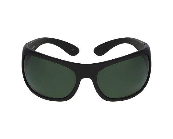Solar Polaroid 07886h 989y2 Verde escuro fosco lentes polarizadas