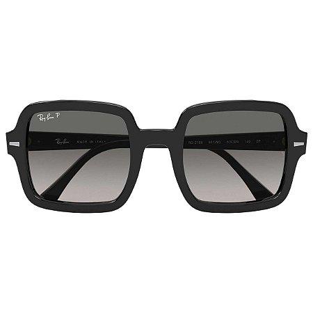 Óculos Solar Ray Ban Feminino RB 2188 901/M3 6371 Preto Com Lente Polarizada