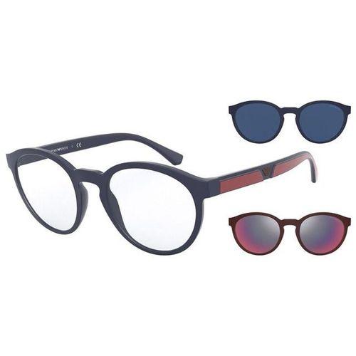 Óculos Emporio Armani com Clip On EA 4152 5669/1W Azul com vermelho
