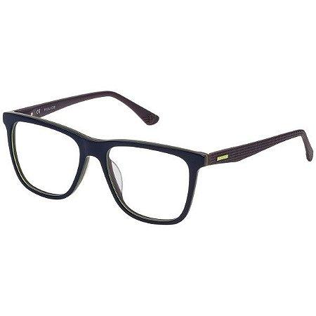Óculos Police Rock 3 VPL 476 09DD Azul e Marrom