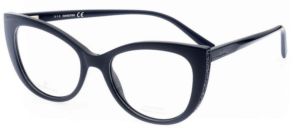 Óculos Feminino Swarovski sw 5290 090 Azul