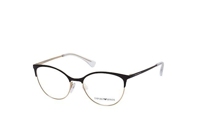 Óculos Feminino Emporio Armani 1087 3014 Metal preto com dourado