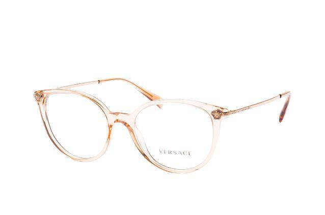 Óculos Feminino Versace 3251b 5215 Champagne translúcido redondo