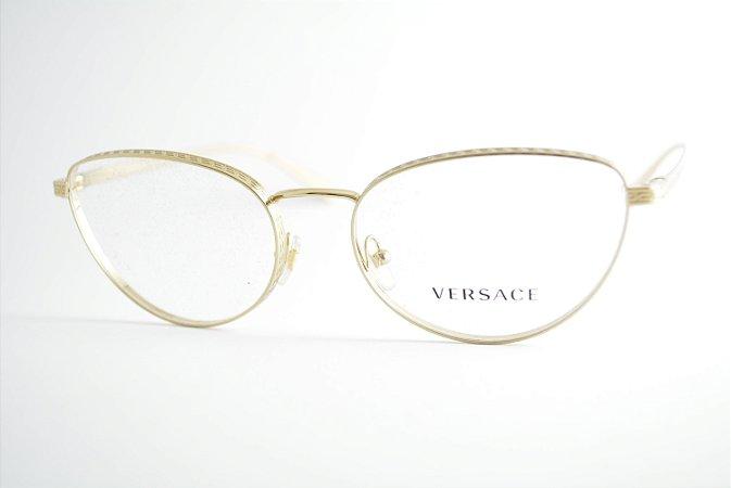 Óculos Feminino Versace 1266 1252 Metal dourado gatinho