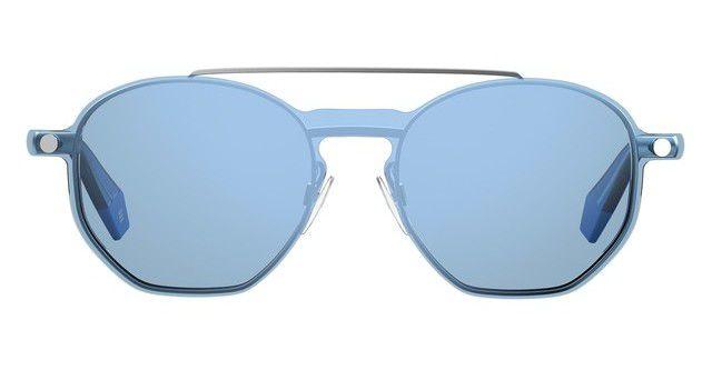 Óculos Feminino com Clip On Polaroid PLD 6083/G/CS PJP99 Prata com Azul