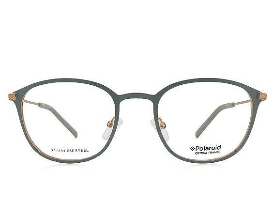 Óculos Feminino Polaroid pld d351 1ed Verde água com dourado