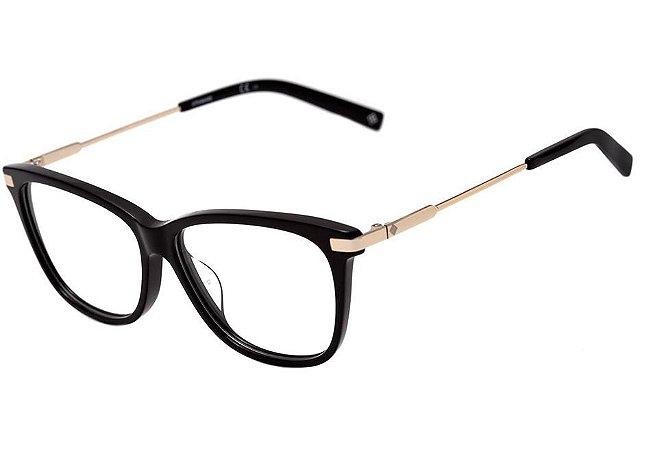 Óculos Feminino Polaroid PLD D353 807 Preto com Dourado