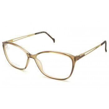 Óculos Feminino Stepper si 30128 f440 Titanium Bege translúcido