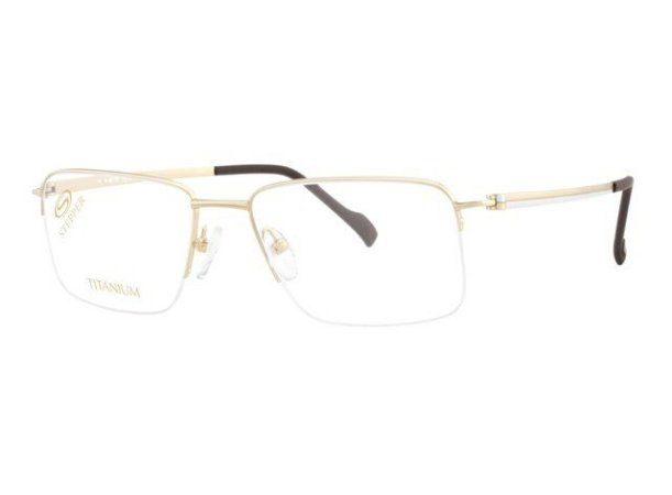 Óculos Masculino Stepper si 60123 f012 Titanium Dourado com fio de nylon