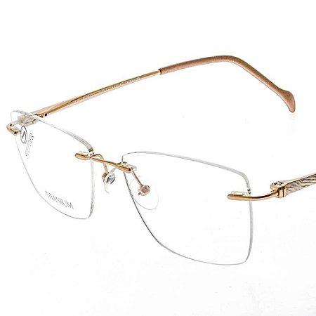 Óculos 3 peças Stepper si95122 f017 Haste com detalhe branco