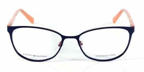 Óculos Feminino Tommy Hilfiger TH 1319 VKZ Metal Azul com Rosa