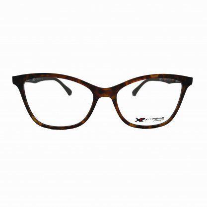Óculos X-Treme com Clip On UT 2834 VN C2 Shan Tartaruga Marrom