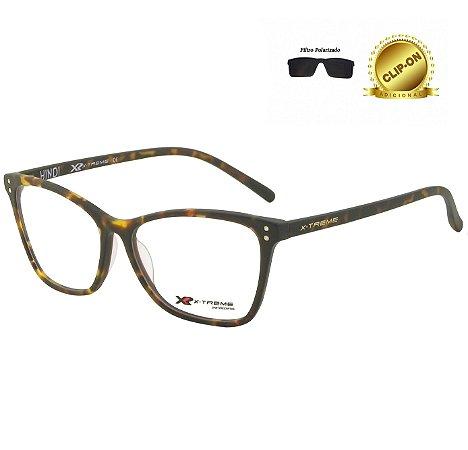 Óculos X-Treme com Clip On Duplex MA0001 C2 Hindi Tartaruga Marrom