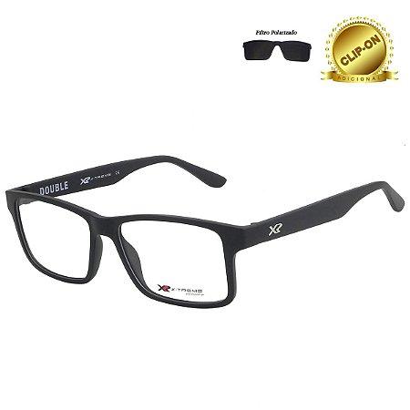 Óculos X-Treme com Clip On  T195-VN C6 Double Preto