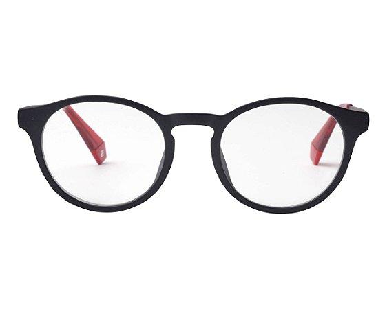 Óculos Polaroid com Clip On PLD 6081/G/CS OIT99 Preto com Lente Espelhada Vermelha