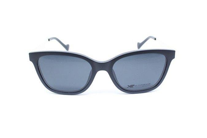 Óculos X-Treme com Clip On  T2520-VN C3 Jade Preto Fosco