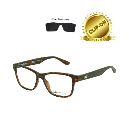 Óculos X-Treme com Clip On T198 VN C2 Mellow Tartaruga Marrom