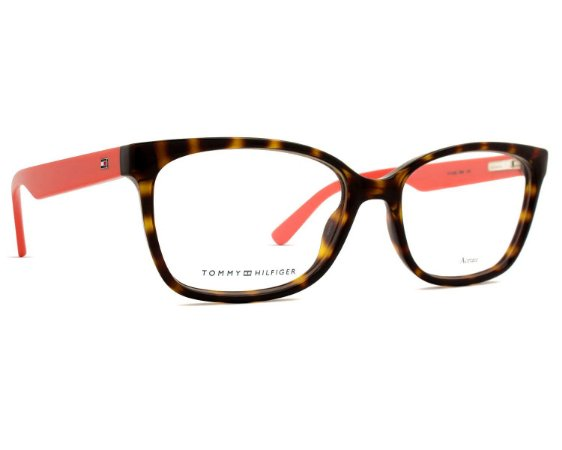 Óculos Tommy Hilfiger TH 1492 9N4 Tartaruga e Rosa Goiaba