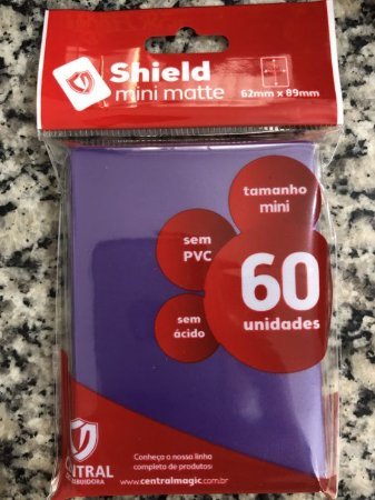 Sleeve - Central Shield MINI (YU-GI-Oh!) 62x89mm - Roxo