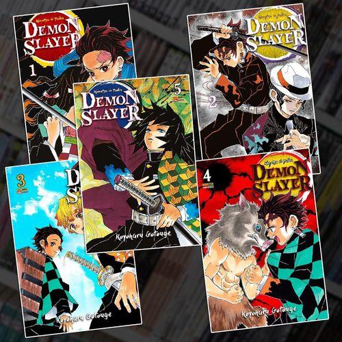 Mangá - Demon Slayer Combo Volume 1 ao 5