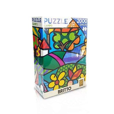 Quebra-Cabeça - Puzzle Campo - Romero Britto 2000pçs