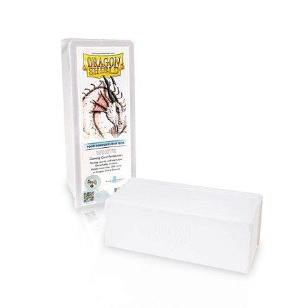 Dragon Shield - Four Compartment Box Em Acrílico  Branco