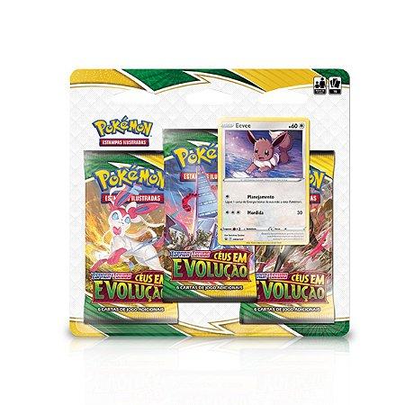 Blister Pokémon Triple Pack - Espada e Escudo 7 - Céus em Evolução - Eevee