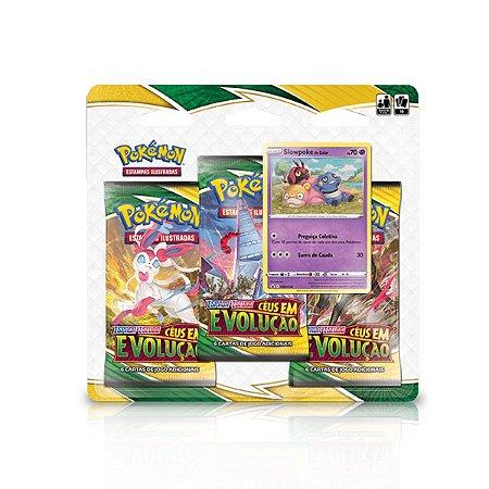 Blister Pokémon Triple Pack - Espada e Escudo 7 - Céus em Evolução - SlowPoke