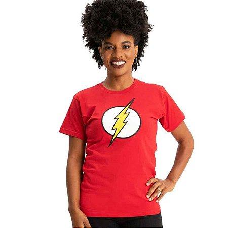 Camiseta Logo Flash Vermelha - Minnie Babylook