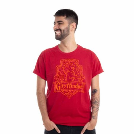 Camiseta Harry Potter Grifinoria Vermelha