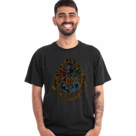 Camiseta Harry Potter Logo Casas