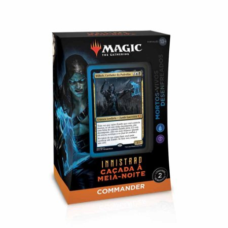 Deck Magic Commander -  Innistrad Caçada a Meia noite -  Mortos-vivos Desenfreados