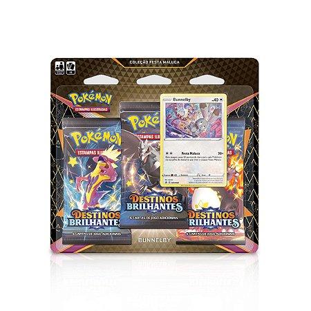Cartas de Pokémon Blister Triplo Destinos Brilhantes