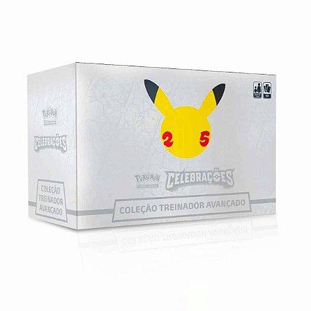 Box Cartas Pokemon Celebrações 25 Anos Coleção Treinador Avançado