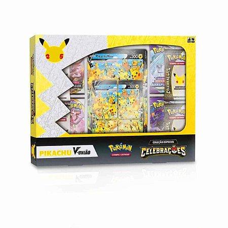 Cartas Pokémon Box Coleção Especial Celebrações - Pikachu V União