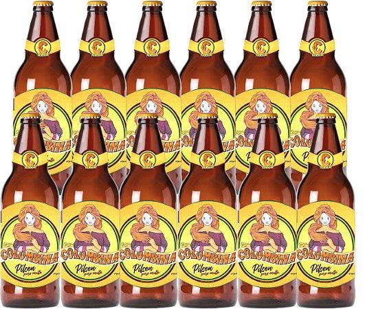 CX 12UND Cerveja Colombina Puro Malte 600ml