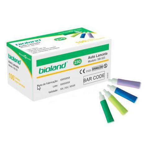 Auto Lanceta 23 G caixa com 100 unidades Bioland