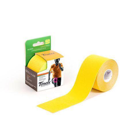 Bandagem Elástica Kinésio Tape Tmax 5m x 5cm Amarelo