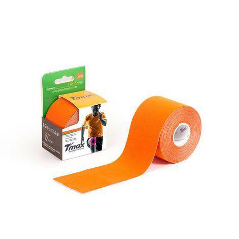 Bandagem Elástica Kinésio Tape Tmax 5m x 5cm Laranja