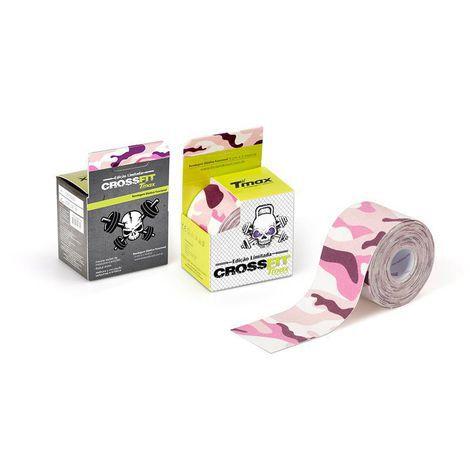 Bandagem Elástica Kinésio Tape Tmax 5m x 5cm Crossfit Rosa