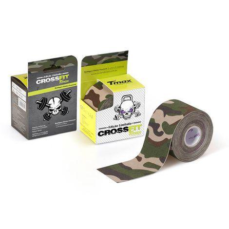 Bandagem Elástica Kinésio Tape Tmax 5m x 5cm Crossfit Verde