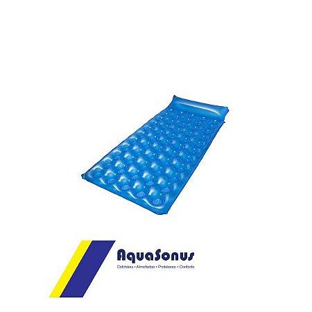Colchão Caixa de Ovo Fechado Aquasonus Azul