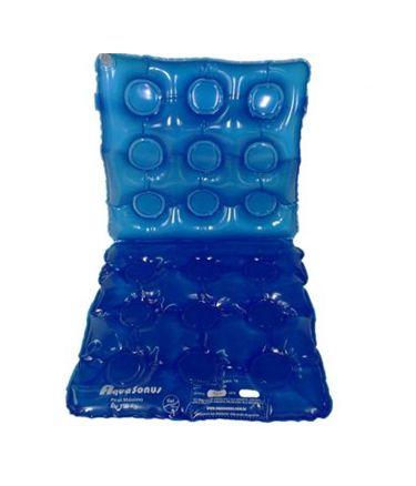 Almofada Assento Gel Quadrado Caixa de Ovo com Encosto Inflável Aquasonus
