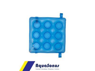 Forração Ortopédica para Encosto Caixa de Ovo Quadrada Aquasonus Azul