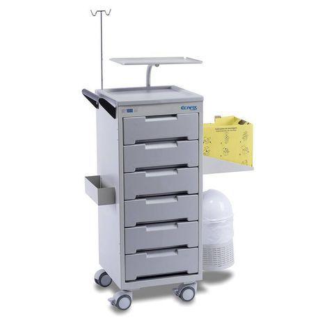 Carro de Medicamentos e Instrumentos para Emergências e Paradas CP-500 Ecafix