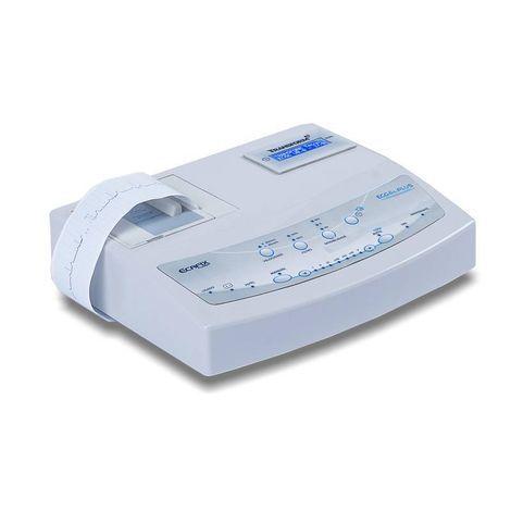 Eletrocardiógrafo Analógico 1 Canal 7 derivaçoes automáticas e 5 manuais com Bateria Interna Recarregável ECG-6 Plus Ecafix