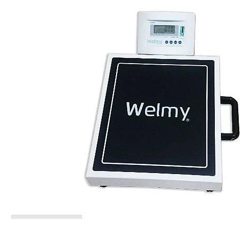 Balança Digital Portátil Capacidade 200kg divisão de 50g - Alça Transporte W-200 M LED Branca Welmy